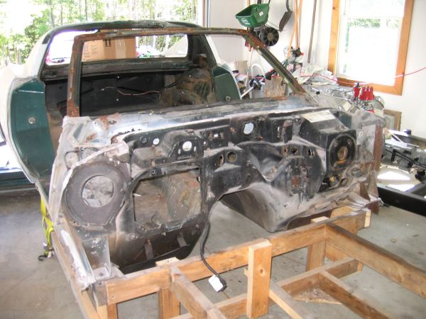 Front Clip Removal The Corvette Restoration Page